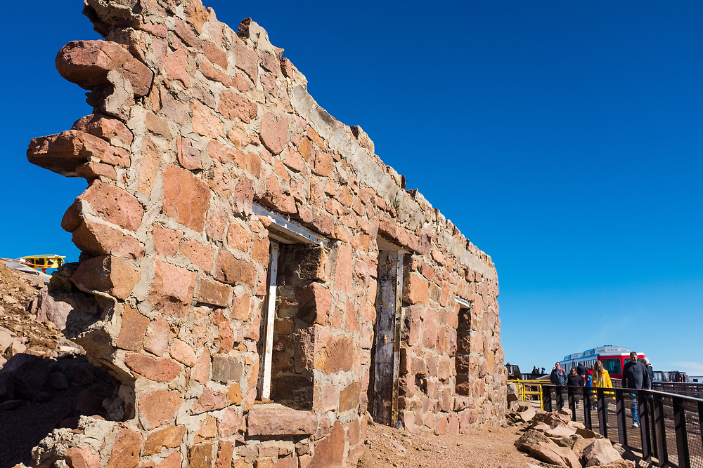 A portion of the Original Summit House on Pikes Peak, dating from 1873.