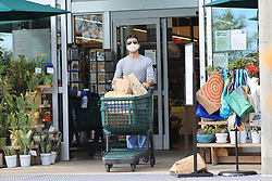 Simon Cowell wears a mask as he goes shopping for groceries at Whole Foods in Malibu amid the COVID-19 virus pandemic lockdown in California. . 05 Apr 2020 Pictured: Simon Cowell. Photo credit: Rachpoot/MEGA TheMegaAgency.com +1 888 505 6342