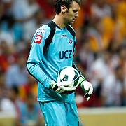 Kasimpasa's goalkeeper Andreas Isaksson during their Turkish Super League soccer match Galatasaray between Kasimpasa at the TT Arena at Seyrantepe in Istanbul Turkey on Monday 20 August 2012. Photo by TURKPIX