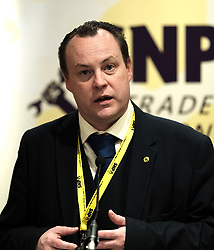 SNP Spring Conference, Saturday 27th April 2019<br /> <br /> SNP Trades Union Group fringe meeting<br /> <br /> The Scottish Trade Union campaign to tackle Corporate Homicide is as old as the Scottish Parliament.  From 2006 the received wisdom has been because any Act would relate to H&S, which is not devolved, the Scottish Parliament may not have legislative competence.<br /> <br /> This view was clearly politically motivated at the time but it has remained received wisdom within the civil service.<br /> <br /> The Trade Unions' campaign however will not go away.  Trade Unions' believe there is a solution using a previously untested section of the Scotland Act.<br /> <br /> We call upon the political will of the Scottish Government to look at this alternative and right the political wrongs of previous Scottish Executives - it is a win-win.<br /> <br /> This is arranged jointly by the TUG and Scottish Hazards and the Speakers are:<br /> <br /> Patrick McGuire, Legal Advisor to Scottish Hazards<br /> <br /> Lynn Henderson,  Past President, Scottish Trades Union Congress<br /> <br /> Chris Stephens MP, Shadow SNP Spokesperson (Fair Work and Employment)<br /> <br /> Chair:  Greg McCarra, Convener, SNP Trade Union Group<br /> <br /> Pictured:  Chris Stephens MP<br /> <br /> Alex Todd | Edinburgh Elite media