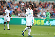 Renato Sanches of Swansea city looks on.  Premier league match, Swansea city v Newcastle Utd at the Liberty Stadium in Swansea, South Wales on Sunday 10th September 2017.<br /> pic by  Andrew Orchard, Andrew Orchard sports photography.