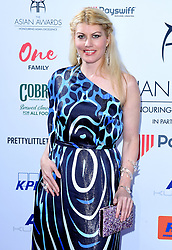 Meredith Ostrom attending the 8th Annual Asian Awards held at the Hilton Hotel, Park Lane, London.