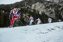 Paal Golberg of Norway and Simeon Hamilton of Sweden during 6 x 1.2 km Team Sprint Free race at FIS Cross Country World Cup Planica 2016, on January 17, 2016 at Planica, Slovenia. Photo By Grega Valancic / Sportida