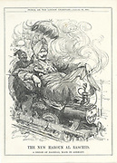 Wilhelm II, Emperor of Germany, dreaming of a German rail link to Baghdad and oil. Cartoon by Leonard Raven-Hill from 'Punch', London, 25 January 1911.