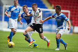 St Johnstone's Thomas Scobbie, Falkirk's John Baird and St Johnstone's Chris Millar. St Johnstone 3 v 0 Falkirk, Group B, Betfred Cup, played 23/7/2016 at St Johnstone's home ground, McDiarmid Park.