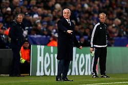 Leicester City manager Claudio Ranieri  points - Mandatory by-line: Matt McNulty/JMP - 22/11/2016 - FOOTBALL - King Power Stadium - Leicester, England - Leicester City v Club Brugge - UEFA Champions League