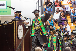 Wilford Blyden.  Fifty-first annual University of the Virgin Islands  Commencement Exercises.  UVI Sports & Fitness Center.  St. Thomas, VI.  14 May 2015.  © Aisha-Zakiya Boyd