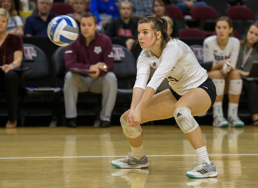 Ole Miss vs. Texas A&M NCAA college volleyball game Sunday, Oct. 22, 2017, in College Station, Texas.