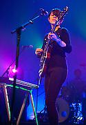 Washington, D.C. - Feb. 18th, 2010:  Tegan and Sara (identical twins Tegan Rain Quin and Sara Kiersten Quin) perform at the Warner Theater during their Sainthood 2010 tour. (Photo by Kyle Gustafson)