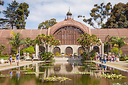 Reflection Pond at The Botanical Building at Balboa Park San Diego