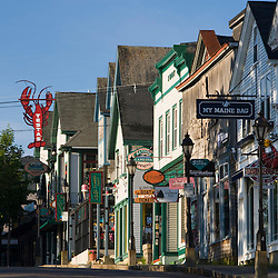 Main Street in Bar Harbor, Maine.  Mount Desert Island.