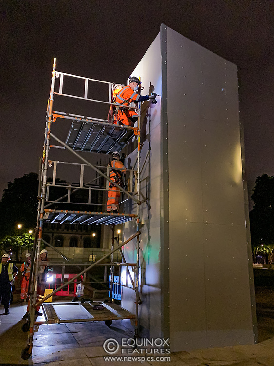London, United Kingdom - 12 June 2020<br /> Winston Churchill statue being covered in protective scaffolding and sheet metal following Black Lives Matter protests, Parliament Square, London, England, UK.<br /> (photo by: EQUINOXFEATURES.COM)<br /> Picture Data:<br /> Photographer: Equinox Features<br /> Copyright: ©2020 Equinox Licensing Ltd. +443700 780000<br /> Contact: Equinox Features<br /> Date Taken: 20200612<br /> Time Taken: 015513<br /> www.newspics.com