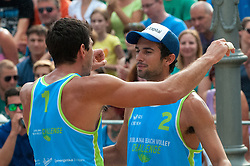 Julian Amando Azaad and Pablo Bianchi Nasi at Beach Volleyball Challenge Ljubljana 2014, on August 2, 2014 in Kongresni trg, Ljubljana, Slovenia. Photo by Matic Klansek Velej / Sportida.com