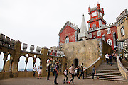 The Arches Yard, chapel and clock tower of the Pena National Palace, Sintra, Portugal. PHOTO PAULO CUNHA/4SEE