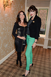 Left to right, CHLOE FRANCIS and JASMINE GUINNESS at the Blue Monday Cheese Launch presented by Alex James and held at The Cadogan Hotel, Sloane street, London on 11th June 2013.