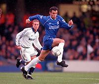 Gustavo Poyet - Chelsea. Chelsea v Tottenham Hotspur. FA Premiership 28/10/00. Credit: Colorsport / Andrew Cowie.