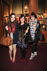 ARLENE PHILLIPS and her daughters, left, ABI and right ALANA at the gala opening night of Cirque du Soleil's Varekai at the Royal Albert Hall, London on 5th January 2010.