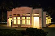 Art Deco public restroom, South Beach, Miami Beach, Florida, USA