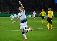 Football - 2018 / 2019 UEFA Champions League - Round of Sixteen, Second Leg: Borussia Dortmund (0) vs. Tottenham Hotspur (3)<br /> <br /> Harry Kane (Tottenham FC) turns away after scoring the opening goal of the game at Signal Iduna Park (Westfalenstadion).<br /> <br /> COLORSPORT/DANIEL BEARHAM