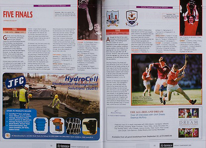 All Ireland Senior Hurling Championship - Final,.11.09.2005, 09.11.2005, 11th Septemeber 2005,.Minor Galway 3-12, Limerick 0-17,.Senior Cork 1-21, Galway 1-16,.11092005AISHCF,.JFC Manufacturing Co LTD, Weir Road, Tuam, Co Galway, .Wolfhound Press,