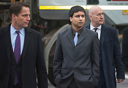 © Licensed to London News Pictures. 04/02/2016. London, UK. Navinder Singh Sarao (C) arrives at Westminster Magistrates court. Sarao is a stock market trader who is accused of contributing to the 2010 flash crash. He has been charged with 22 counts of fraud and market manipulation by the US authorities who want to extradite him. Photo credit: Peter Macdiarmid/LNP
