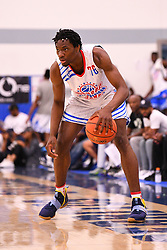 June 3, 2018 - Norwalk, CA, U.S. - NORWALK, CA - JUNE 03: Precious Achiuwa from St. BenedictÃ•s during the Pangos All-American Camp on June 3, 2018 at Cerritos College in Norwalk, CA. (Photo by Brian Rothmuller/Icon Sportswire) (Credit Image: © Brian Rothmuller/Icon SMI via ZUMA Press)