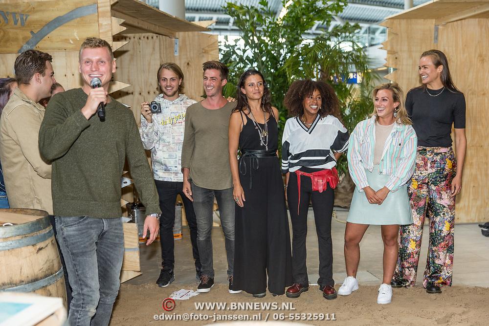 NLD/Utrecht/20190814 - Bekendmaking 6 deelnemers Expeditie Robinson 2019, Rijk Hofman, Hugo kennis, Eva Koreman, Eva Cleven, Fien vermeulen, Yvette Broch