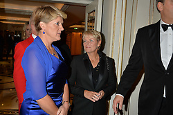 Left to right, CLARE BALDING and ALICE ARNOLD at the 26th Cartier Racing Awards held at The Dorchester, Park Lane, London on 8th November 2016.