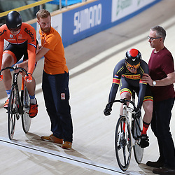 16-12-2016: Wielrennen: NK baanwielrennen: Apeldoorn  <br />Achtste finale Harry Lavrijsen plaatst zich