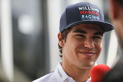 August 24, 2017 - Francorchamps, Belgium - LANCE STROLL of Canada and Williams Martini Racing talks to the media during preparations of the 2017 Formula 1 Belgian Grand Prix in Francorchamps, Belgium. (Credit Image: © James Gasperotti via ZUMA Wire)
