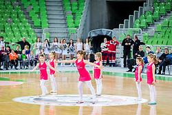 Young Cheerleaders during basketball match between KK Petrol Olimpija and KK Sixt Primorska in Playoffs of Liga Nova KBM, on March 30, 2018 in Arena Stozice, Ljubljana, Slovenia. Photo by Ziga Zupan / Sportida