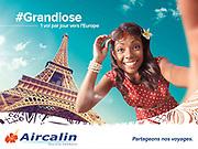 photo d'une campagne publicitaire pour la compagnie aérienne AIrcalin international réalisée à Nouméa Nouvelle Calédonie.