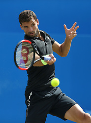Bulgaria's Grigor Dimitrov in action against Russia's Daniil Medvedev during day five of the 2017 AEGON Championships at The Queen's Club, London.