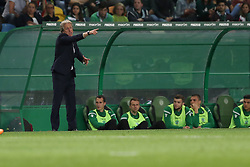 April 18, 2018 - Lisbon, Portugal - Sporting's head coach Jorge Jesus from Portugal gestures during the Portugal Cup semifinal second leg football match Sporting CP vs FC Porto at the Alvalade stadium in Lisbon on April 18, 2018. (Credit Image: © Pedro Fiuza/NurPhoto via ZUMA Press)