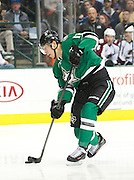 DALLAS, TX - NOVEMBER 1:  Alex Chiasson #12 of the Dallas Stars takes a shot on goal against the Colorado Avalanche on November 1, 2013 at the American Airlines Center in Dallas, Texas.  (Photo by Cooper Neill/Getty Images) *** Local Caption *** Alex Chiasson