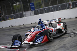 July 14, 2018 - Toronto, Ontario, Canada - TONY KANAAN (14) of Brazil attempts to qualify in the rain for the Honda Indy Toronto at Streets of Toronto in Toronto, Ontario. (Credit Image: © Justin R. Noe Asp Inc/ASP via ZUMA Wire)