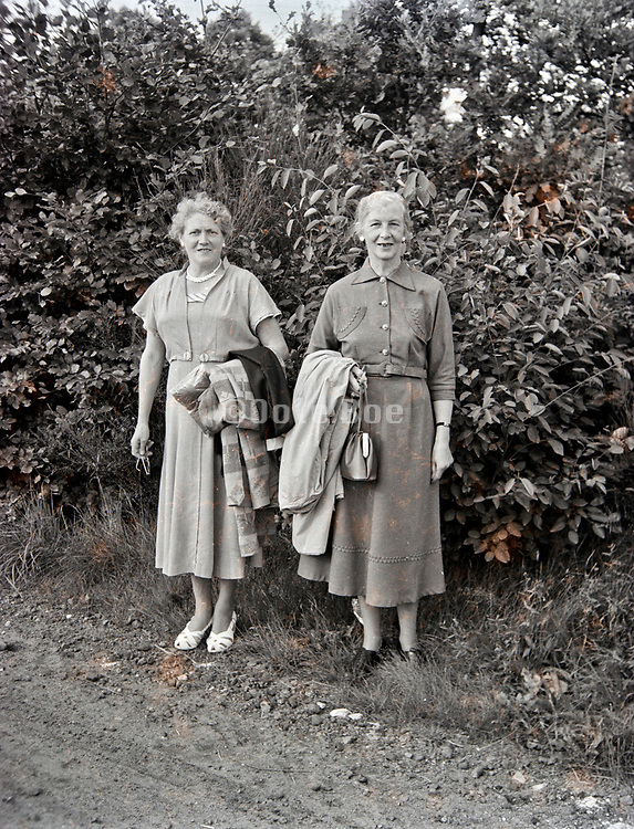 portrait of two Dutch woman standing 1950s