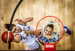 Cecilia Zandalasini of Italy vs Zala Friskovec of Slovenia during basketball match between Women National teams of Italy and Slovenia in Group phase of Women's Eurobasket 2019, on June 30, 2019 in Sports Center Cair, Nis, Serbia. Photo by Vid Ponikvar / Sportida