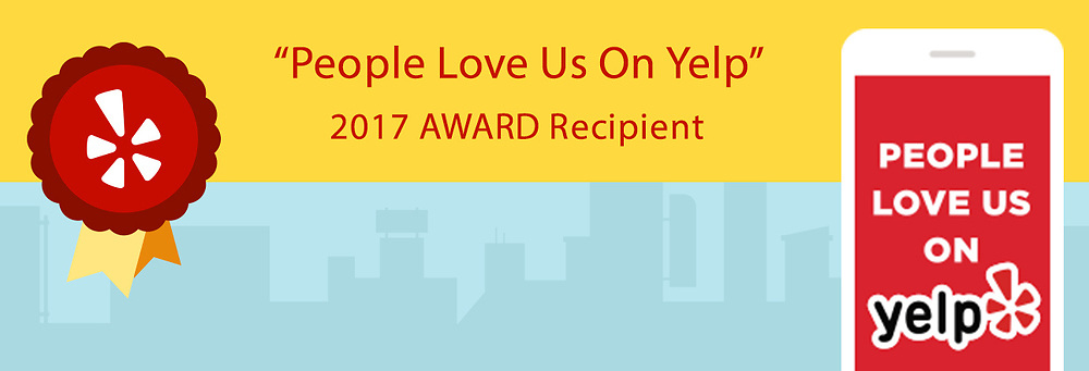 """People Love Us on Yelp"" South Lake Tahoe 2017 Award"