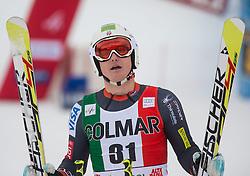22.12.2013, Gran Risa, Alta Badia, ITA, FIS Ski Weltcup, Alta Badia, Riesenslalom, Herren, 2. Durchgang, im Bild Tim Jitloff (USA) // Tim Jitloff of the USA reacts in the finish Area during 2nd run of mens Giant Slalom of the Alta Badia FIS Ski Alpine World Cup at the Gran Risa Course in Alta Badia, Italy on 2012/12/22. EXPA Pictures © 2013, PhotoCredit: EXPA/ Johann Groder