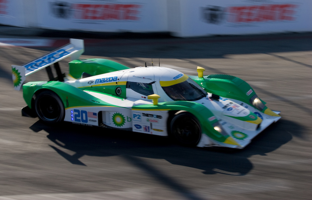 Lola Mazda car driven by Butch Leitzinger and Marino Franchitti. Finished 5th. 3rd in P2 class. ALMS long beach 4/24/09