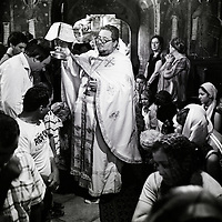 Neamt County, Romania, July 2007<br /> Father Basile giving a mass.<br /> Photo: Ezequiel Scagnetti
