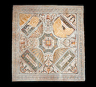 Roman mosaics from the north African Roman province of Africanus . Bardo Museum, Tunis, Tunisia. .<br /> <br /> If you prefer to buy from our ALAMY PHOTO LIBRARY  Collection visit : https://www.alamy.com/portfolio/paul-williams-funkystock/roman-mosaic.html - Type -   Bardo    - into the LOWER SEARCH WITHIN GALLERY box. Refine search by adding background colour, place, museum etc<br /> <br /> Visit our ROMAN MOSAIC PHOTO COLLECTIONS for more photos to download  as wall art prints https://funkystock.photoshelter.com/gallery-collection/Roman-Mosaics-Art-Pictures-Images/C0000LcfNel7FpLI