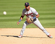 CHICAGO - AUGUST 29:  Luis Arraez #2 of the Minnesota Twins fields against the Chicago White Sox on August 29, 2019 at Guaranteed Rate Field in Chicago, Illinois.  (Photo by Ron Vesely)  Subject:   Luis Arraez