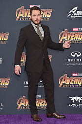 Chris Pratt attends the World Premiere of Avengers: Infinity War on April 23, 2018 in Los Angeles, Ca, USA. Photo by Lionel Hahn/ABACAPRESS.COM