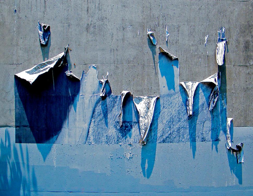Wall of peeling paint