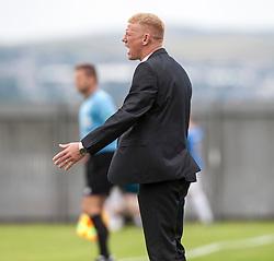 Falkirk's manager Gary Holt.<br /> Dumbarton 1 v 1 Falkirk, Scottish Championship 10/8/2013.<br /> ©Michael Schofield.