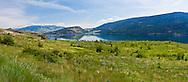 Spring panorama of foliage and flowers near Kekuli Bay Provincial Park and Kalamalka Lake in Vernon, British Columbia, Canada