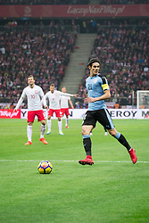 November 10, 2017 - Warsaw, Poland - Edinson Cavani (21) during the international friendly soccer match between Poland and Uruguay at the PGE National Stadium in Warsaw, Poland on 10 November 2017  (Credit Image: © Mateusz Wlodarczyk/NurPhoto via ZUMA Press)