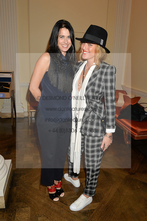 Left to right, EMILY SHEFFIELD and ALICE TEMPERLEY at a party hosed by the US Ambassador to the UK Matthew Barzun, his wife Brooke Barzun and editor of UK Vogue Alexandra Shulman in association with J Crew to celebrate London Fashion Week held at Winfield House, Regent's Park, London on 16th September 2014.